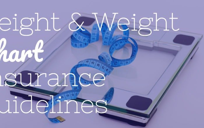 life insurance height and weight chart