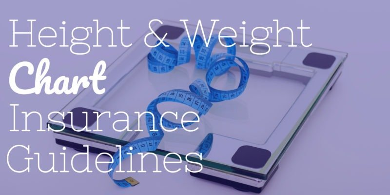 Life Insurance Height Weight Male Female Overweight Charts