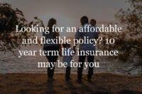 10 year term life insurance